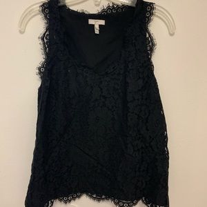 Joie black lace top